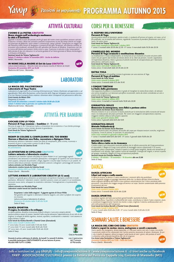 Locandina YAWP programma 3